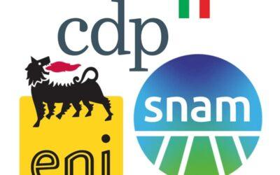 CDP, Eni e Snam firmano un accordo per la decarbonizzazione del sistema energetico